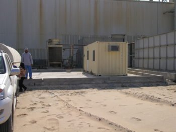 water treatment plant in desert