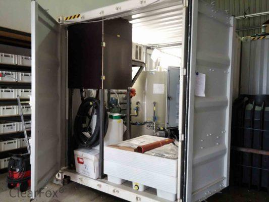 Abwasserreinigung mit Container Flotation