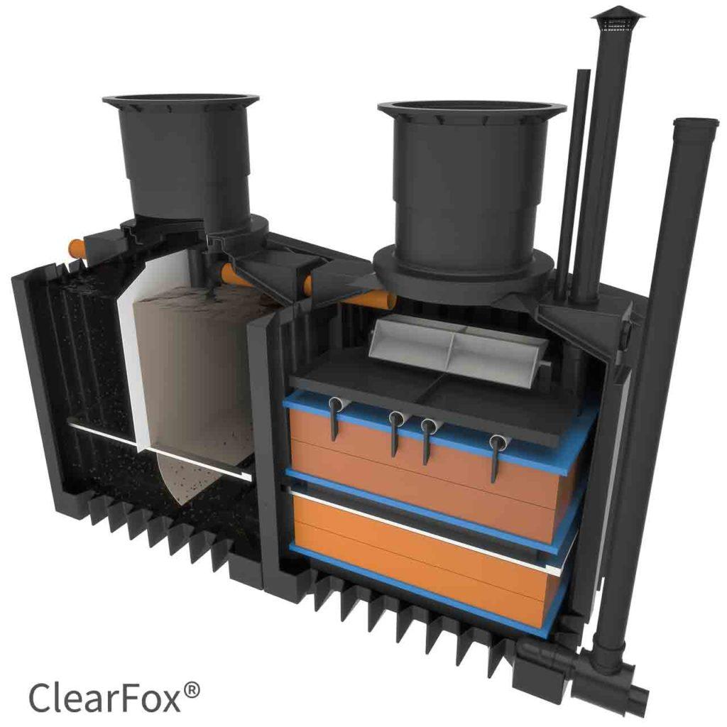 ClearFox Nature stromlose Kleinkläranlage
