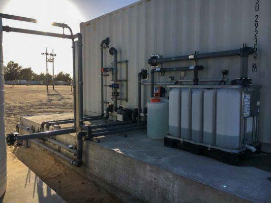 Abwasserreinigungsanlage in Containersystem