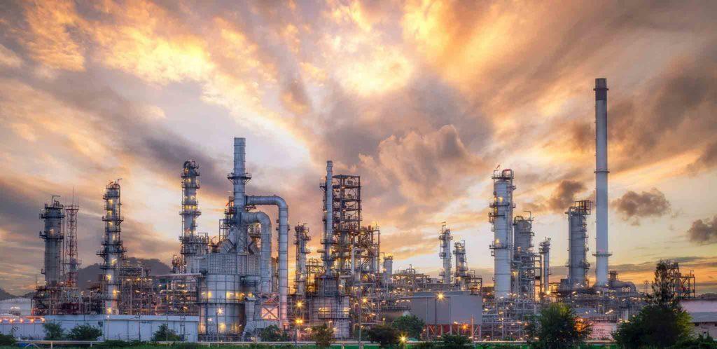 Ölbohrfeld