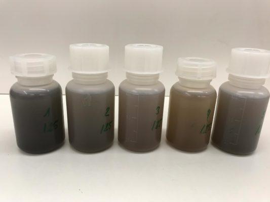 Jar test for manure treatment